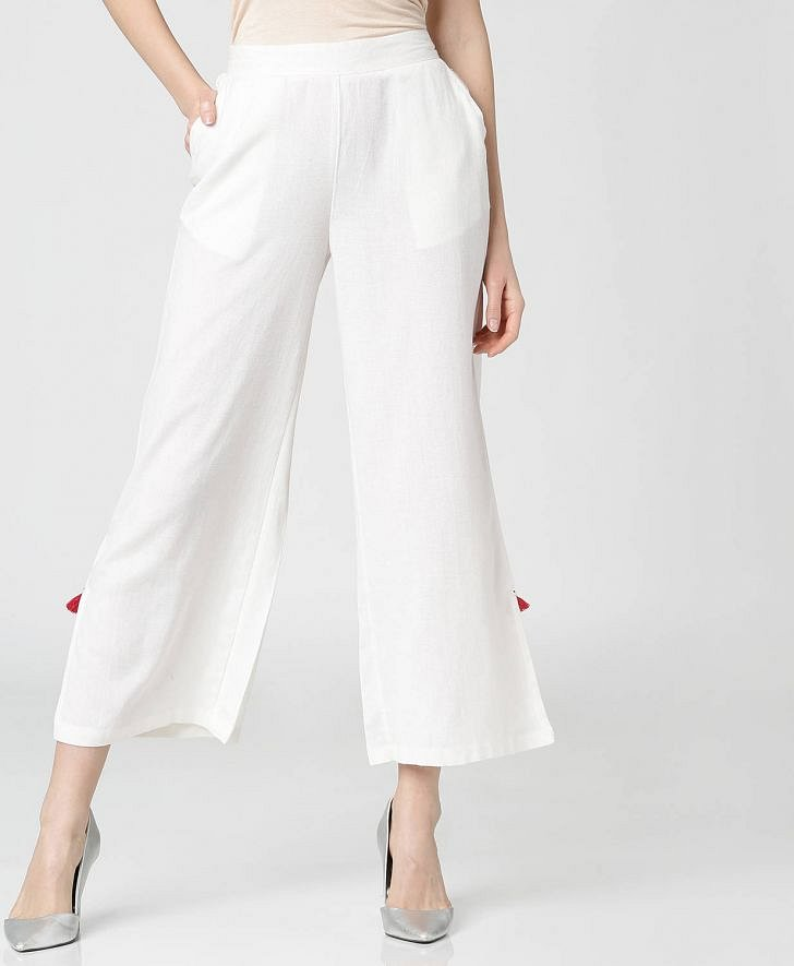 Buy Morpankh Women Side Slit Ankle Length Palazzos Online at fbb